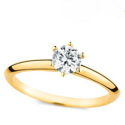 Der Gelbgold Verlobungsring von Juwelier Mommen in Köln.