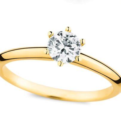 Gelbgold Verlobungsring vom Juwelier in Köln