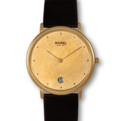 elegante Designuhr von Nivrel bei Juwelier Mommen in Köln.
