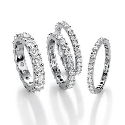 klassische Memoire-Ringe mit Krappenfassungvom Juwelier am Neumarkt in Köln
