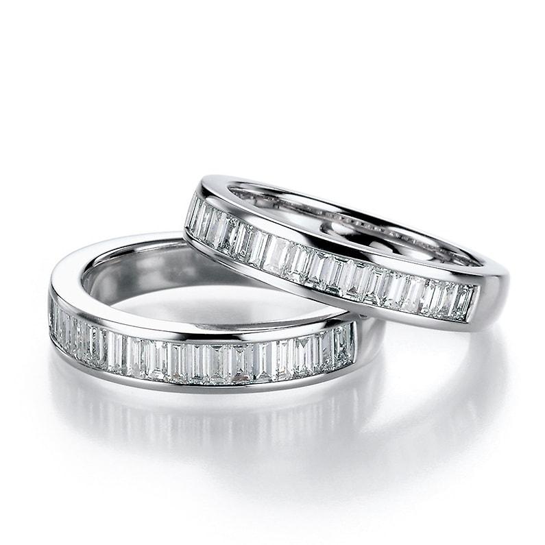 Memoire Ringe mit Diamant-Baguette vom Juwelier am Neumarkt in Köln.