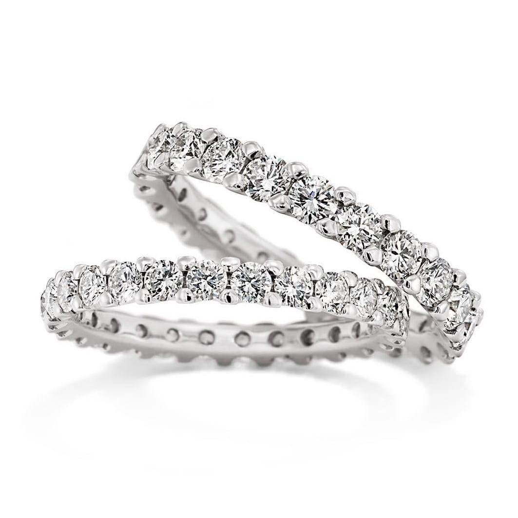 Memoire-Ringe mit Krappenfassung von Juwelier Mommen in Köln