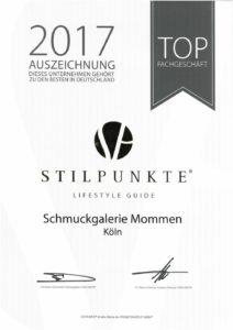 Schmuckgalerie Mommen als Top JuwelieSchmuckgalerie Mommen als Top Juwelier in Köln ausgezeichnetr in Köln ausgezeichnet