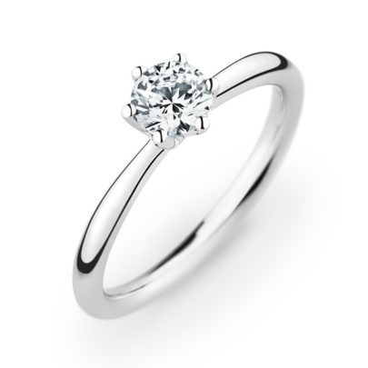 Verlobungsring mit Krappenfassung von Juwelier Mommen in Köln