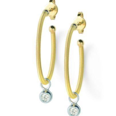 Creolen mit Brillanten in Gold von Juwelier Mommen in Köln