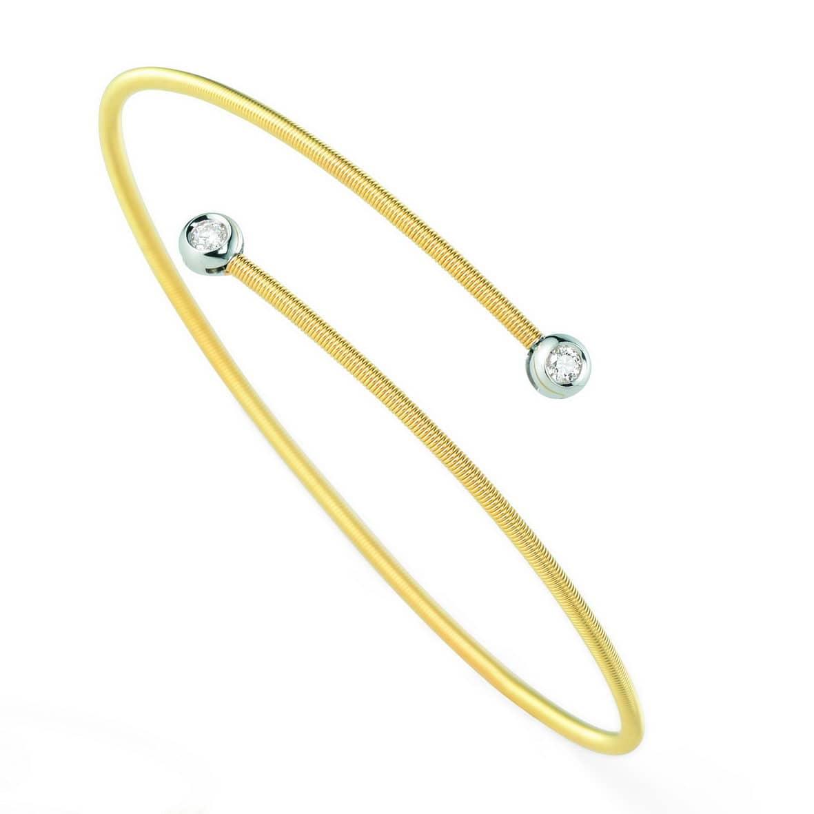 flexibler Armreif mit Brillanten in Gold von Juwelier Mommen in Köln