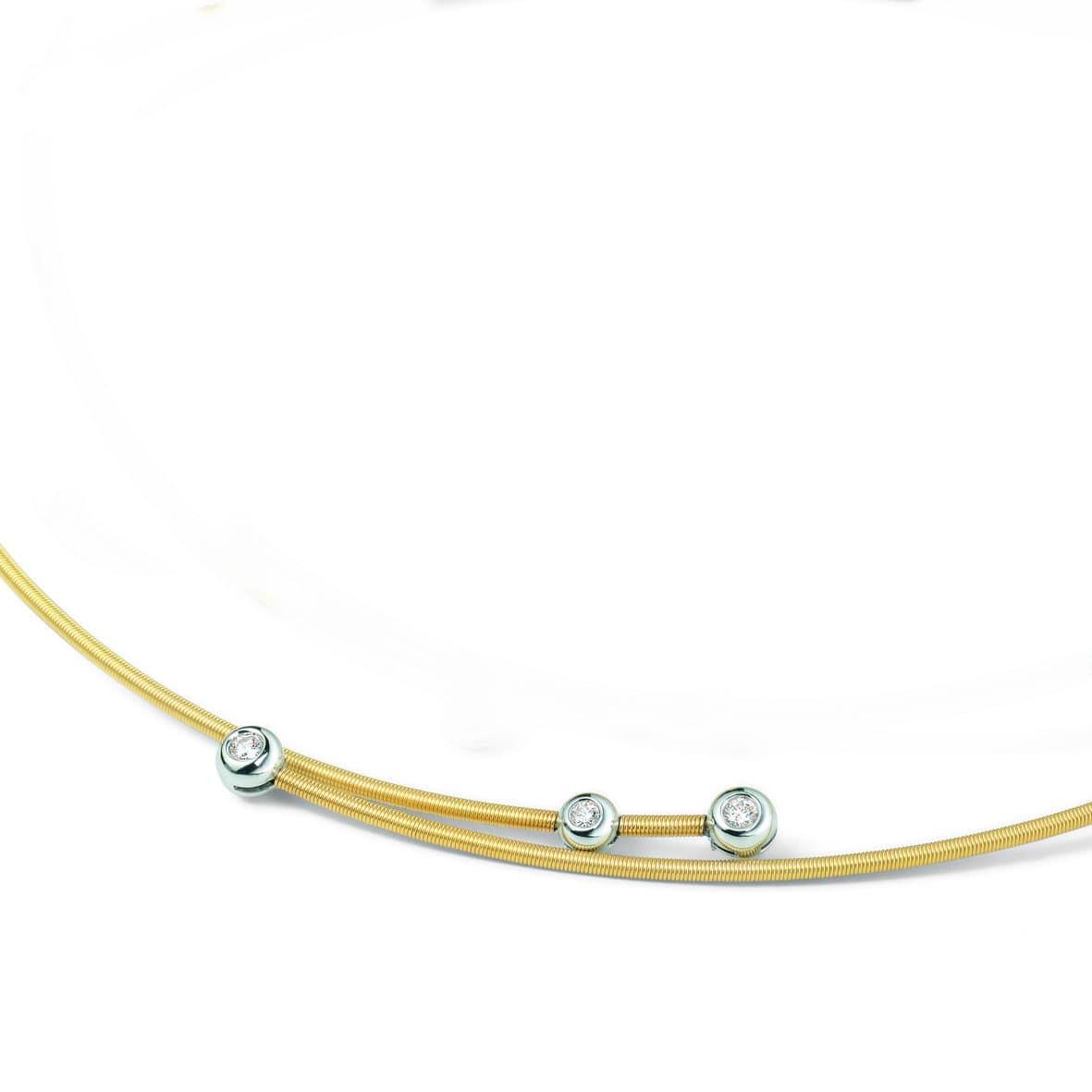 flexibler Halsreif mit Brillanten in Gold von Juwelier Mommen in Köln
