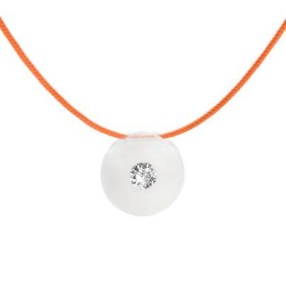 schmuckwerk Anhänger Glasklar mit Textilband von Juwelier Mommen in Köln.