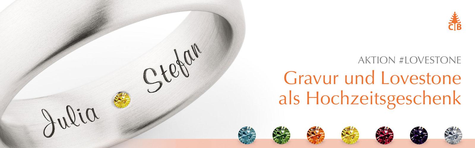 Trauringe mit Lovestone bei Juwelier Mommen am Neumarkt in Köln
