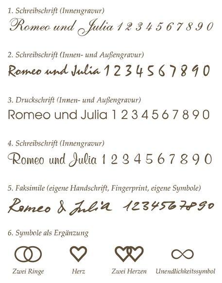Lasergravuren für Trauringe von Juwelir Mommen am Neumarkt in Köln