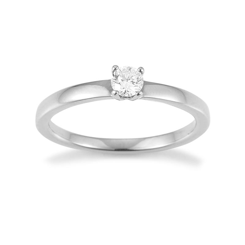 Verlobungsring mit 4er-Krappe von Juwelier Mommen in Köln