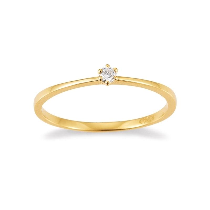 zierlicher Verlobungsring in Gold von Juwelier Mommen in Köln.